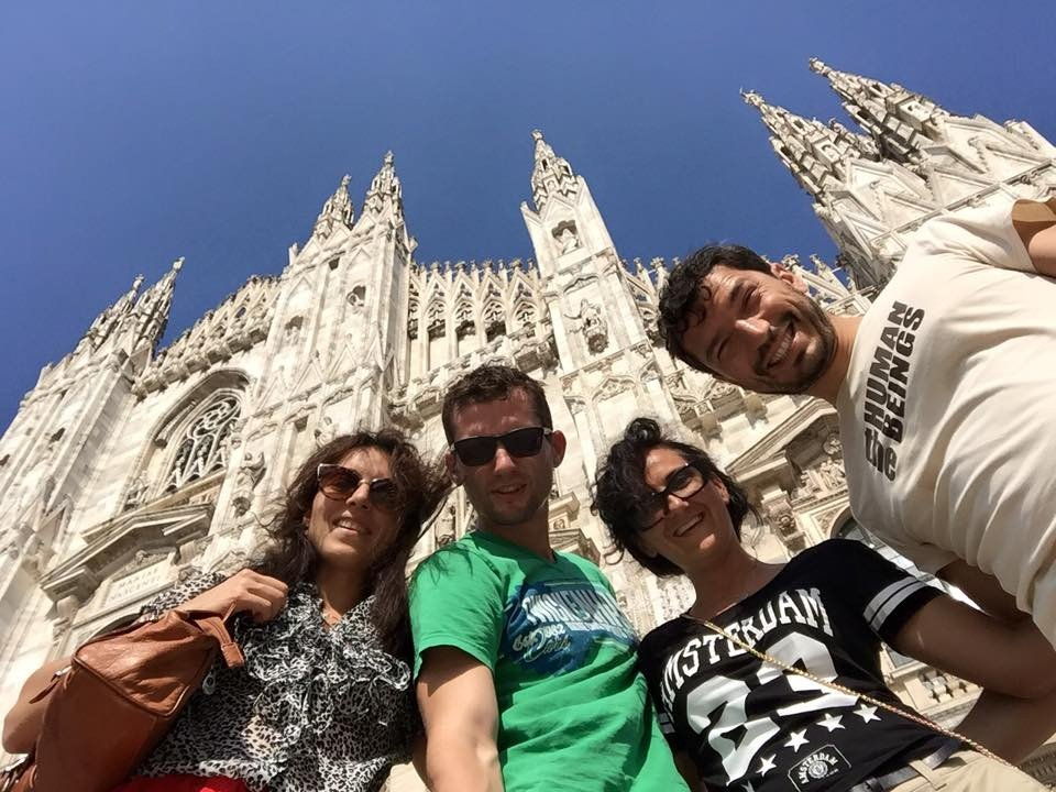 Friends visiting Albiate, and then Milano