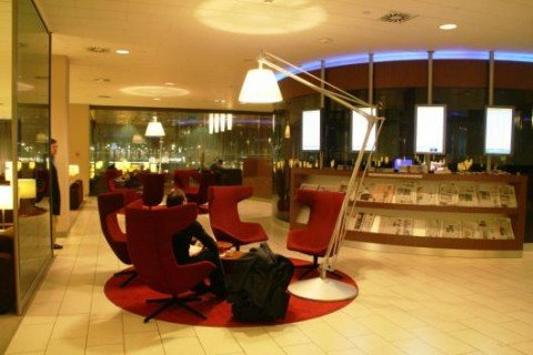 KLM lounge at schiphol airport