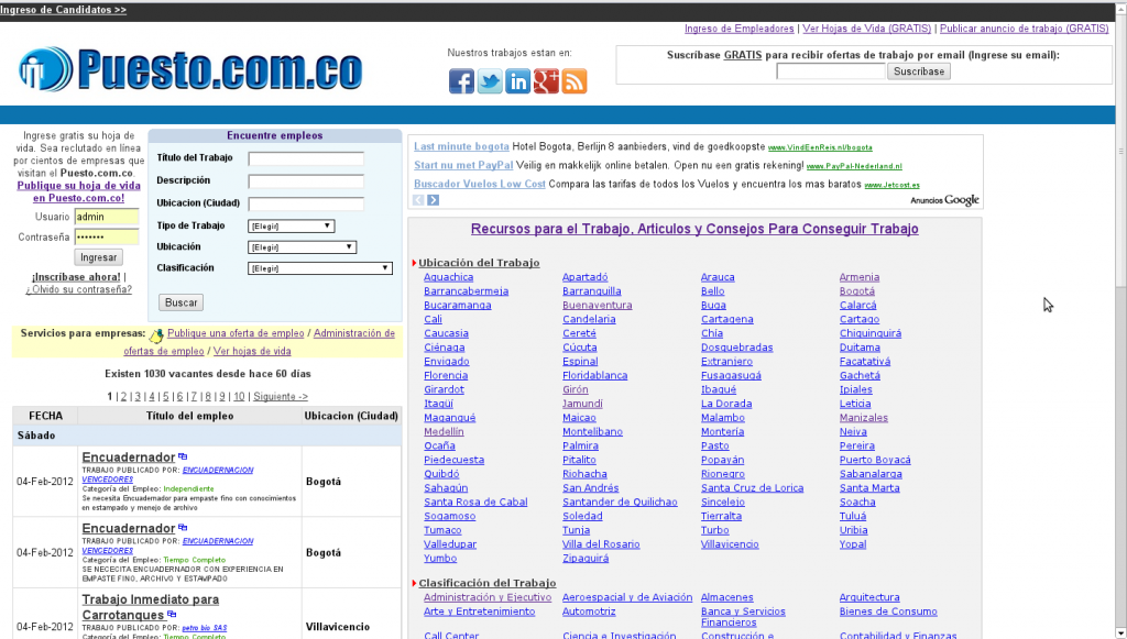 Puesto.com.co screenshot