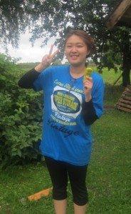 An always-happy Koren girl