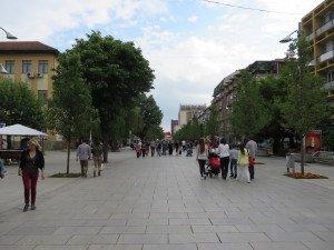 Main street in Pristina