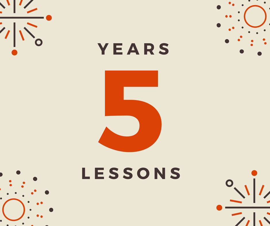 5 lessons from 5 years of self-employment