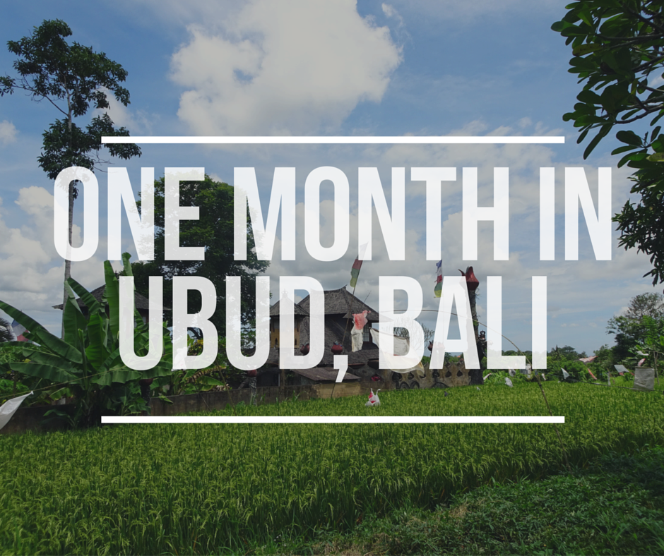 One month in Ubud